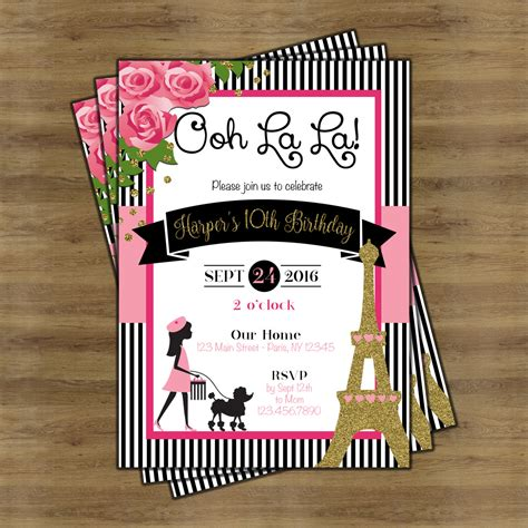 invitation theme themed invitations