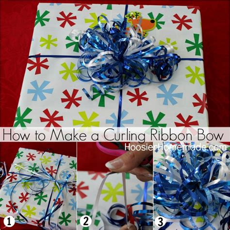 How To Make A Bow Out Of Wrapping Paper - creative gift wrapping hoosier