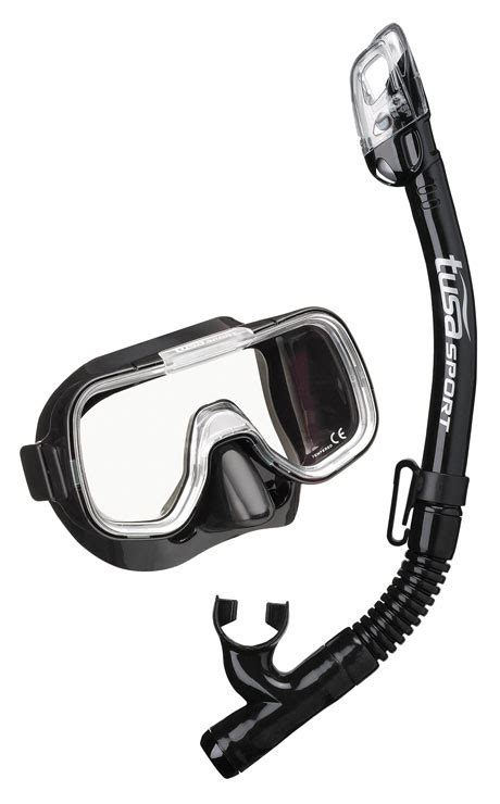 Tusa Mask Snorkel Mini Kleio Youth Combo Uc 2022 Bkbk Diving tusa sport combos uc 2022