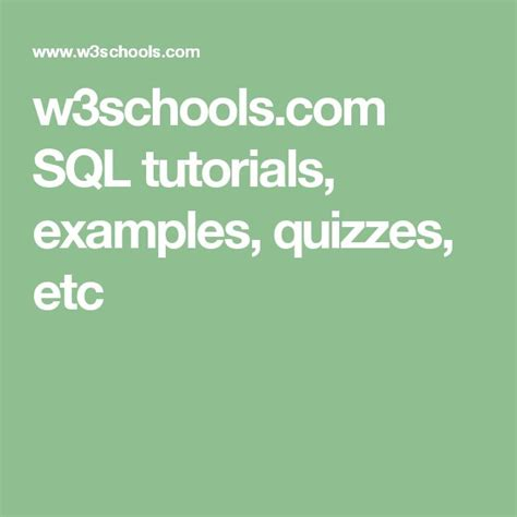 pattern html w3schools 1000 ideas about sql tutorial on pinterest sql commands