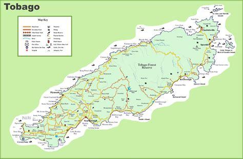 and tobago map tobago tourist map