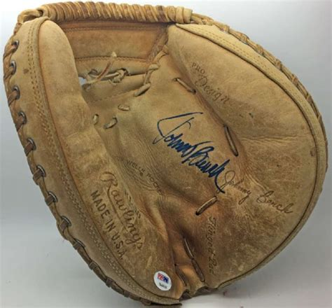 johnny bench catchers mitt lot detail johnny bench signed personal model rawlings