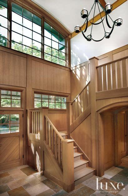 Traditional Brown Staircase  Light Filled Atrium