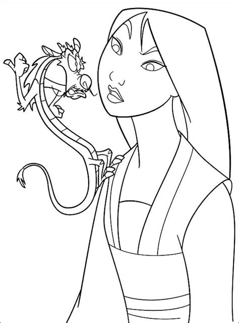 mulan 2 princesses coloring pages www imgkid com the