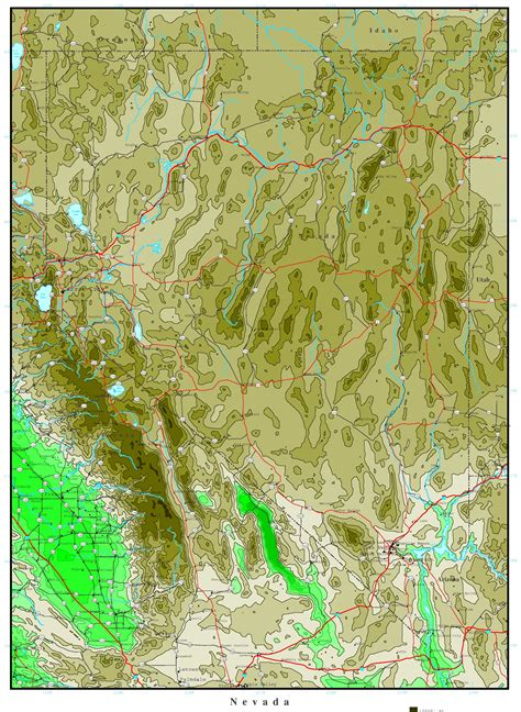 unr map nevada elevation map