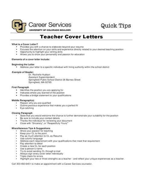 Cover Letter For Teachers Exle Cover Letter Exles 4 Free Templates In Pdf Word Excel