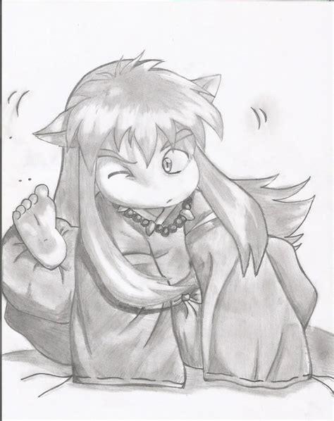 imagenes de inuyasha para dibujar a lapiz inuyasha chibi por eslait97 dibujando