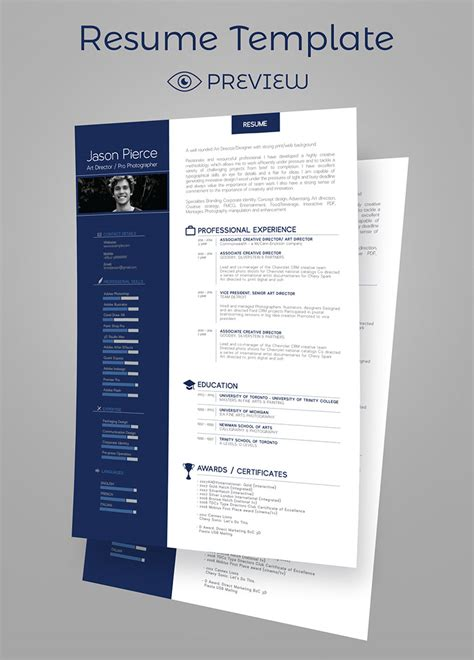 Cover Letter Template Psd simple premium resume cv design cover letter template