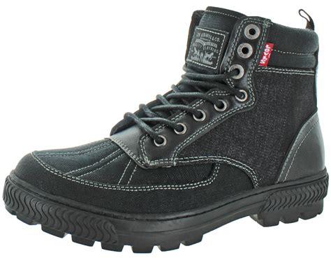 mens levi boots levi s s dayton denim casual boots shoes ebay