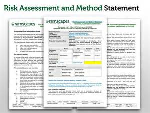 risk statement template ramscapes health and safety policy commercial