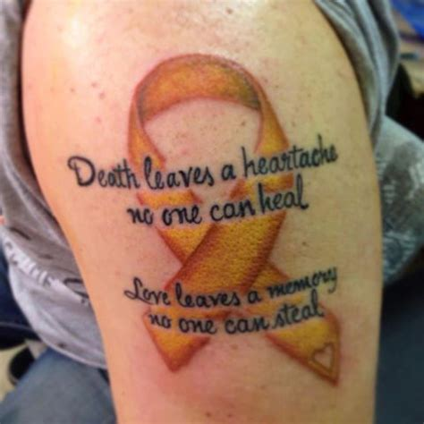 suicide memorial tattoos awareness ribbon foto custom