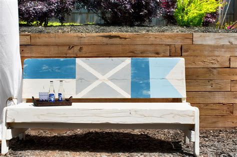 how to paint a bench how to paint nautical flags on a bench how tos diy