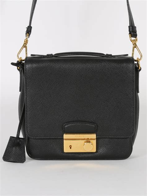 Prada Lock Handbag by Prada Lock Saffiano Crossbody Luxury Bags