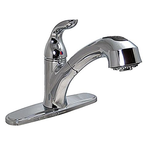 pf231341 single handle pull out kitchen faucet