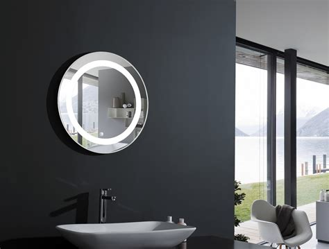 Cream Bathroom Mirror Elita Round Lighted Vanity Mirror Led Bathroom Mirror