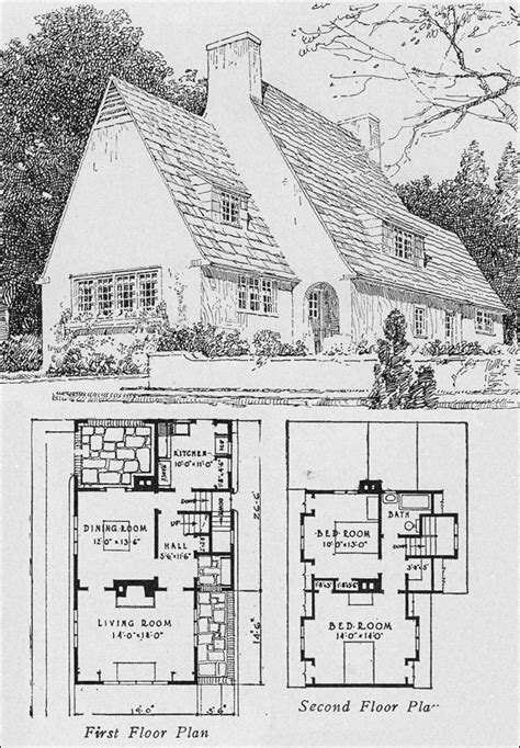 tudor house plans 1920 s 1920s english cottage small homes books of a thousand