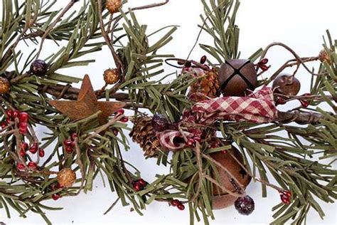 primitive artificial pine  pip berry garland pip