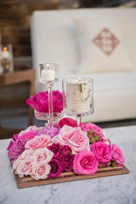 25  best ideas about Pink Wedding Centerpieces on