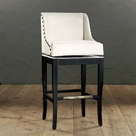marcello barstool with brass nail trim traditional