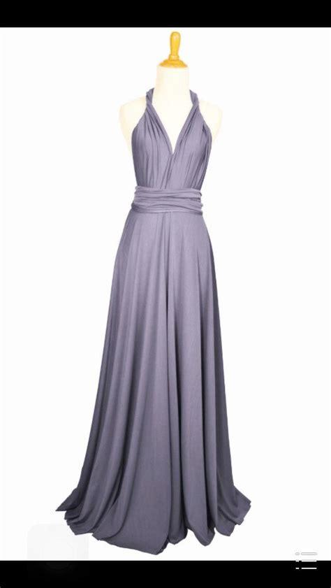 Lilac Grey Dress by Lilac Grey Dress Length Gown Infinity Dress