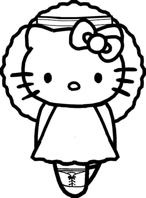 coloring page hello kitty ballerina coloring pages of ballerina shoes alltoys for