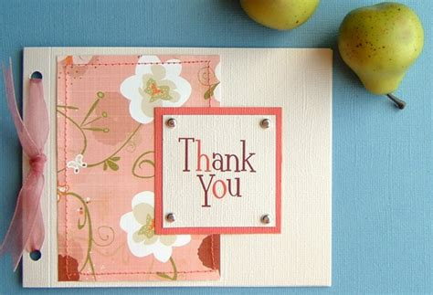 how to make thank you card and white color handmade thank you card