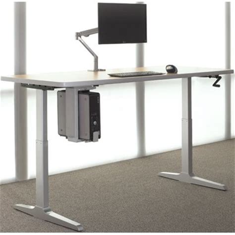 workrite ergonomics adjustable desk manual workrite sierra hxl crank rectangular 2 leg sit stand