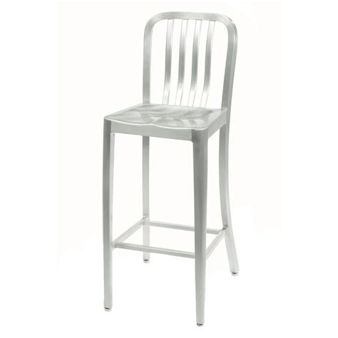 brushed metal bar stools home decorators collection sandra 30 in brushed aluminum