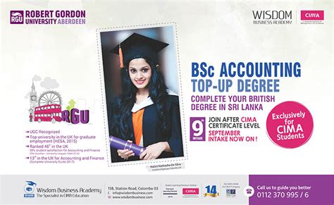 Mba Cima Top Up by Accounting Top Up Degree For Cima Students