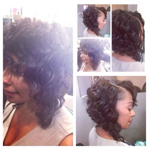 how to layer curly hair in a sew in pinterest the world s catalog of ideas