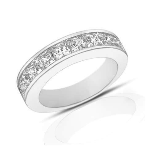 ct princess cut diamond wedding band ring  channel