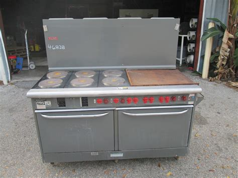 Commercial Kitchen Range vulcan e60f 60 quot electric restaurant range 6 burner 24