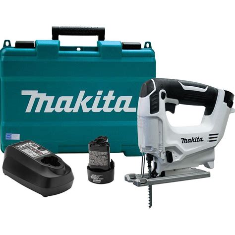 makita 12 volt max lithium ion cordless jig saw kit vj01w