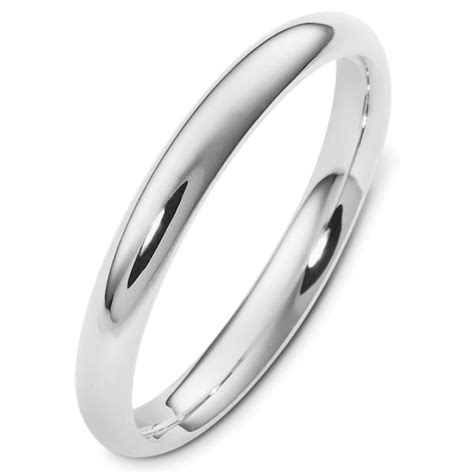 vh123793ag silver 3mm wide heavy comfort fit plain wedding
