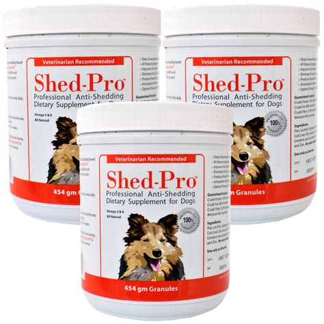 Shedding Solutions by 3 Pack Shed Pro 174 Granules For Dogs 120 Servings