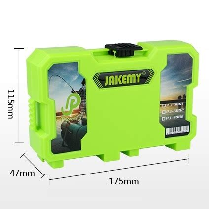 Tool Box Perkakas Pancing Jakemy Customizable Storage Container Box jakemy customizable storage container box jm pj2002 green jakartanotebook