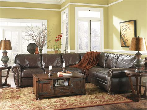 Distressed Leather Living Room Furniture by Distressed Leather Sectional Homesfeed