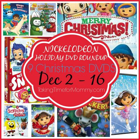 Nickelodeon Giveaway - nickelodeon holiday dvd roundup 8 dvd nickjr giveaway