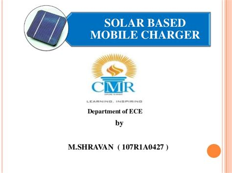 solar mobile charger project solar mobile charger ppt