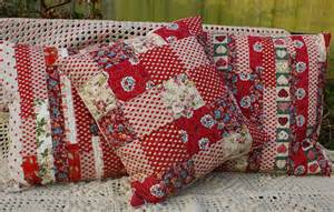 Patchwork Stitches - patchwork cushion adaliza
