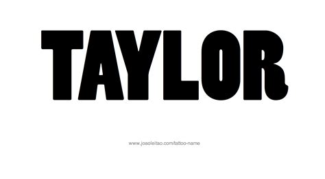 taylor tattoo name designs