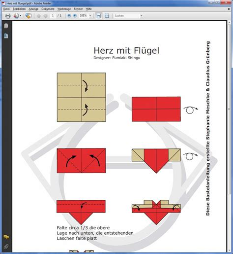 Bettdecke Zum Herz Falten by Herzen Falten Paper Mache Crafts