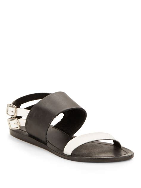 kenneth cole flat shoes kenneth cole reaction glide away leather flat sandals in