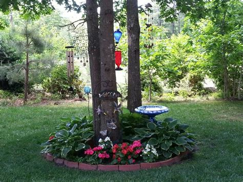flower beds around trees pin by sheryl slaton on gardening pinterest