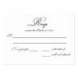 rsvp reply template rsvp large business cards pack of 100 zazzle