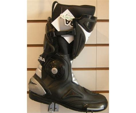 Diadora 2 Fit Black Motorcycle Boots