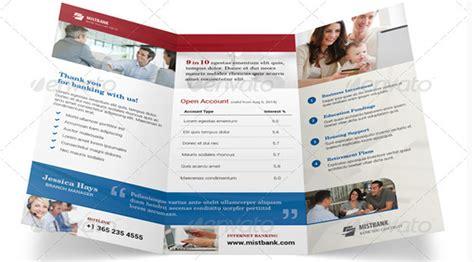 10 Stunning Bank Brochure Templates For Downloading Free Bank Brochure Template