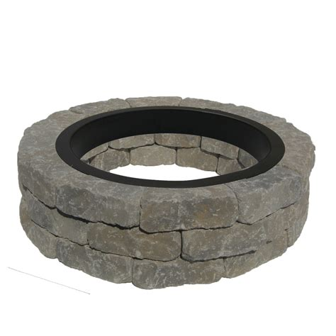 Lowes Firepit Kit Shop 43 5 In W X 43 5 In L Allegheny Concrete Firepit Kit At Lowes