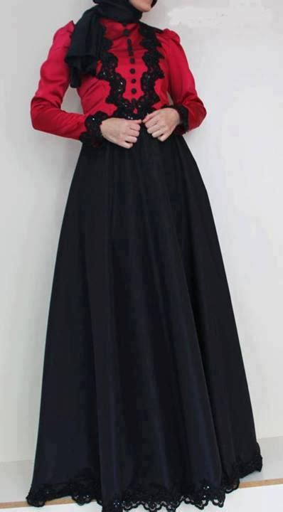 Busana Muslimahtunik Hitam Merah freza studio design gallery photo