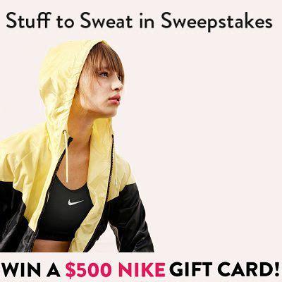 Win Nike Gift Card - win a 500 nike gift card in stuff to sweat in sweepstakes sweepstakesbible